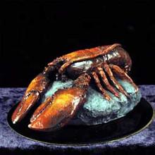 Lobster Figurine on Black Base