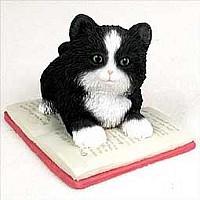 My Kitty on a Book Figurine