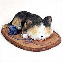 My Kitty Sleeping with Yarn Figurine