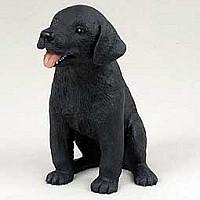 Labrador Retriever Black Puppy Figurine