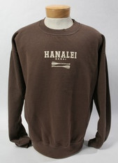 Hawaii Crew Bomber Sweat Brown
