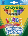 Large Crayola Crayons (8 count)