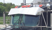 Kenworth Monster Drop Bow-Tie Standard Mount Curved Windshield 2006 and Earlier