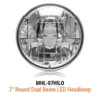 """Maxxima 7"""" Round LED Headlight"""
