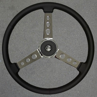 VIP Steering Wheel Old Style 3 Spoke Leather 20""