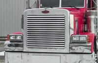 379 Peterbilt EXTENDED Hood 16 Louver-Style Grill Insert