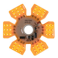 Air Cleaner Light Amber 54 LED Hex Ultra Thin