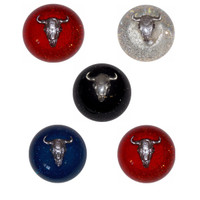 Shift Knob Cow Skull Glitter Threaded