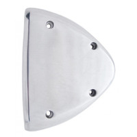 Headlight Turn Signal Cover - Polished Aluminum Pair