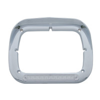 10 LED Single Headlight Bezel w/ Visor - Amber LED/Clear Lens