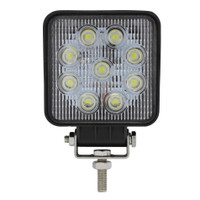 9 High Power 3 Watt LED Work Light Square - Competition Series