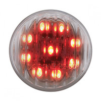 "9 LED 2"" Red Clear Marker Light"