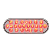 LED Oval Red Clear Pearl