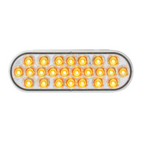 LED Oval Amber Clear Pearl