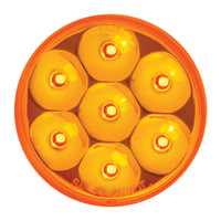 "LED 2"" Pearl Amber Marker Light"