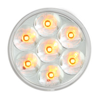 "LED 2"" Pearl  Ambler/Clear Marker Light"