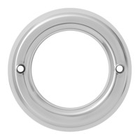"2"" Light Bezel Chrome Plastic Screw On"