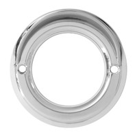 "2"" Light Bezel With Visor Chrome Plastic Screw On"