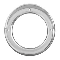 "4"" Light Bezel With Visor Chrome Plastic Screw On"
