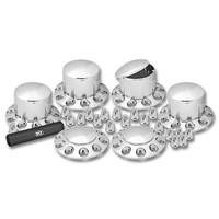 Complete Chrome Plastic ABS Axle & Nut Cover Kit