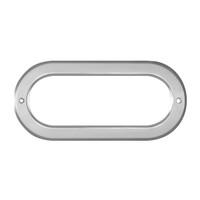 Oval Light Bezel Chrome Plastic Screw On