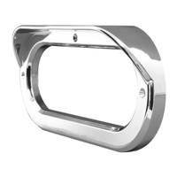 Oval Bezel With Visor Chrome Plastic Screw On