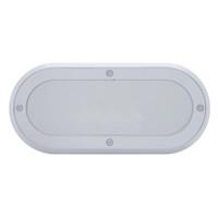 Oval Mirror Light Bezel Chrome Plastic Screw On