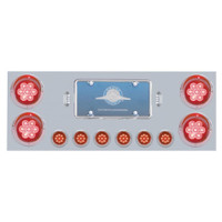 Rear Center Panel with Red/Red LED