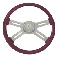 "Steering Wheel 4 Spoke 18"" Purple (Requires 3 Hole Hub)"