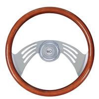 "Steering Wheel 18"" Mahogany ""Flight"" (Requires 3 Hole Hub)"