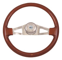 "Steering Wheel 18"" Pinion Mahogany (Requires 3 Hole Hub)"