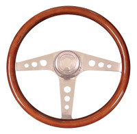 "Steering Wheel 18"" Mahogany ""Racer"" (Requires 3 Hole Hub)"