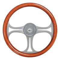 "Steering Wheel 18"" Mahogany ""Saber"" (Requires 3 Hole Hub)"