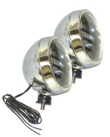 Perlux Round Louvered Fog Lights Pair