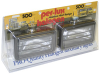 Perlux Rectangle Louvered Fog Lights Pair