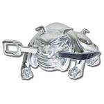 Chrome Bull Dog w/Sword Hood Ornament