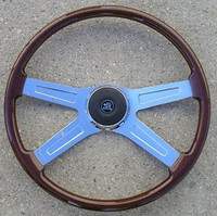 "STEERING WHEEL 20"" WOOD 4-SPOKE"