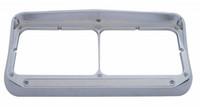 14 LED Rectangular Dual Headlight Bezel with Visor