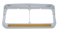 14 LED Rectangular Dual Headlight Bezel with Visor UA 32351