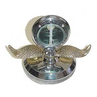 Chrome Aluminum Motometer (Chrome Wings & Chromed Aluminum Base)