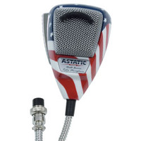 Astatic - 636L Noise Canceling 4-Pin CB Microphone, Stars N' Stripes