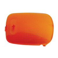2006+ Peterbilt Rectangular Dome Light Lens - Amber