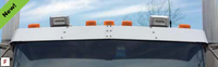 Kenworth Replacement Extended Visor For Flat and Curved Windshields 2007 and Newer