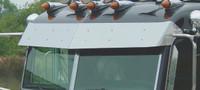 """Peterbilt Ultra Cab 11"""" Drop Visor 2002-2005 with Door Mounted Mirrors"""