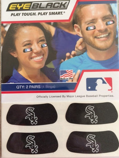Chicago White Sox EyeBlack. 4 strips with each package.