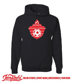Black hoodie with Olympic Soccer logo