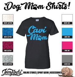 Black Ladies' Fit Short Sleeve T-Shirt with Cavi Mom logo