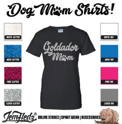 Black Ladies' Fit Short Sleeve T-Shirt with Goldador Mom logo