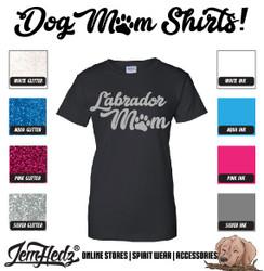 Black Ladies' Fit Short Sleeve T-Shirt with Labrador Mom logo