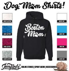 Black Hoodie with Boston Mom logo